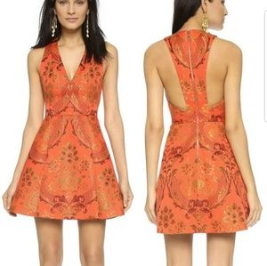 Alice + Olivia Mollie Deep V Dress 4